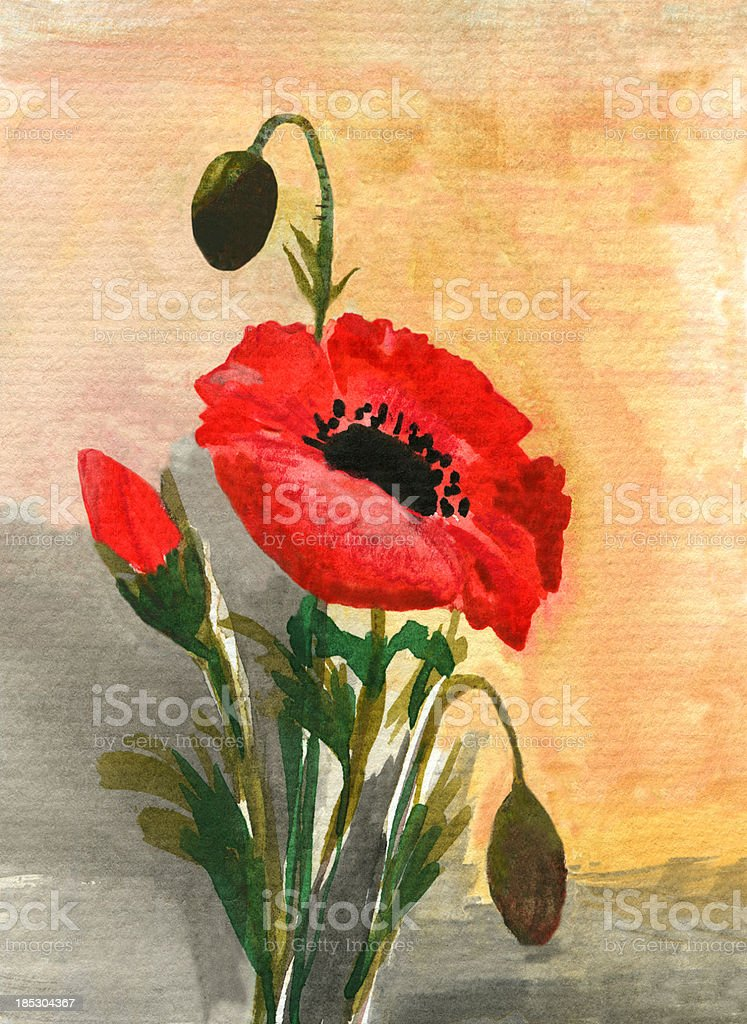 Acrylic painting of poppy flower stock vector art more images of acrylic painting of poppy flower royalty free acrylic painting of poppy flower stock vector art mightylinksfo Image collections
