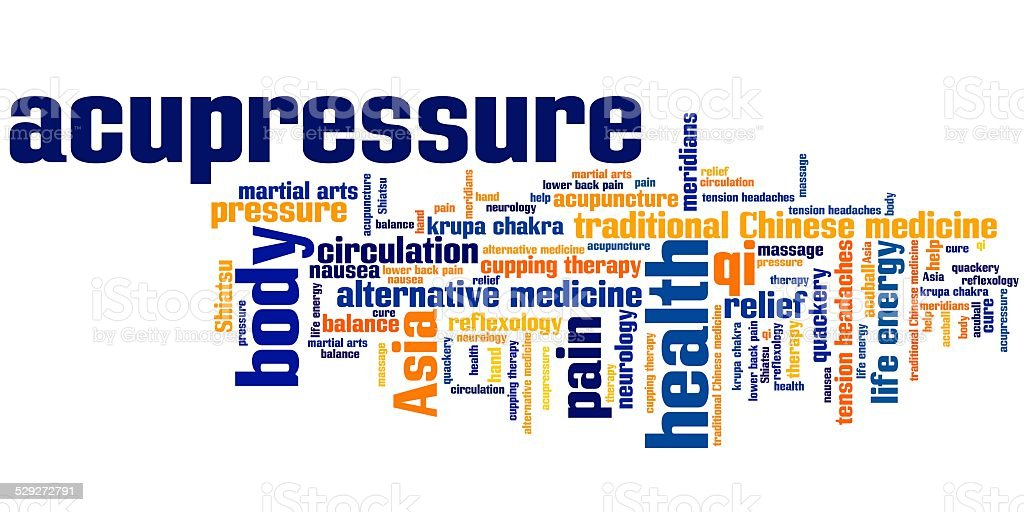 Acupressure medicine vector art illustration