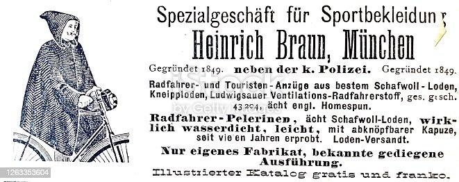 istock Ad for a specialty sportswear store, Munich, Heinrich Braun 1263353604
