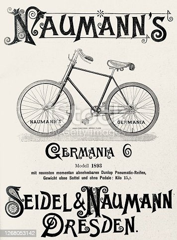 istock Ad for Naumann's Germania bicycle, Dresden 1268053142