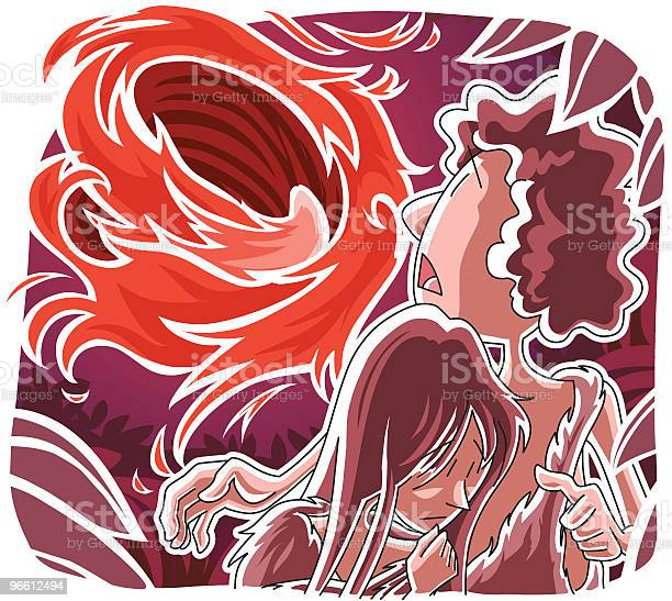 Adam And Eve Driven Out Of Eden Stock Illustration - Download Image Now