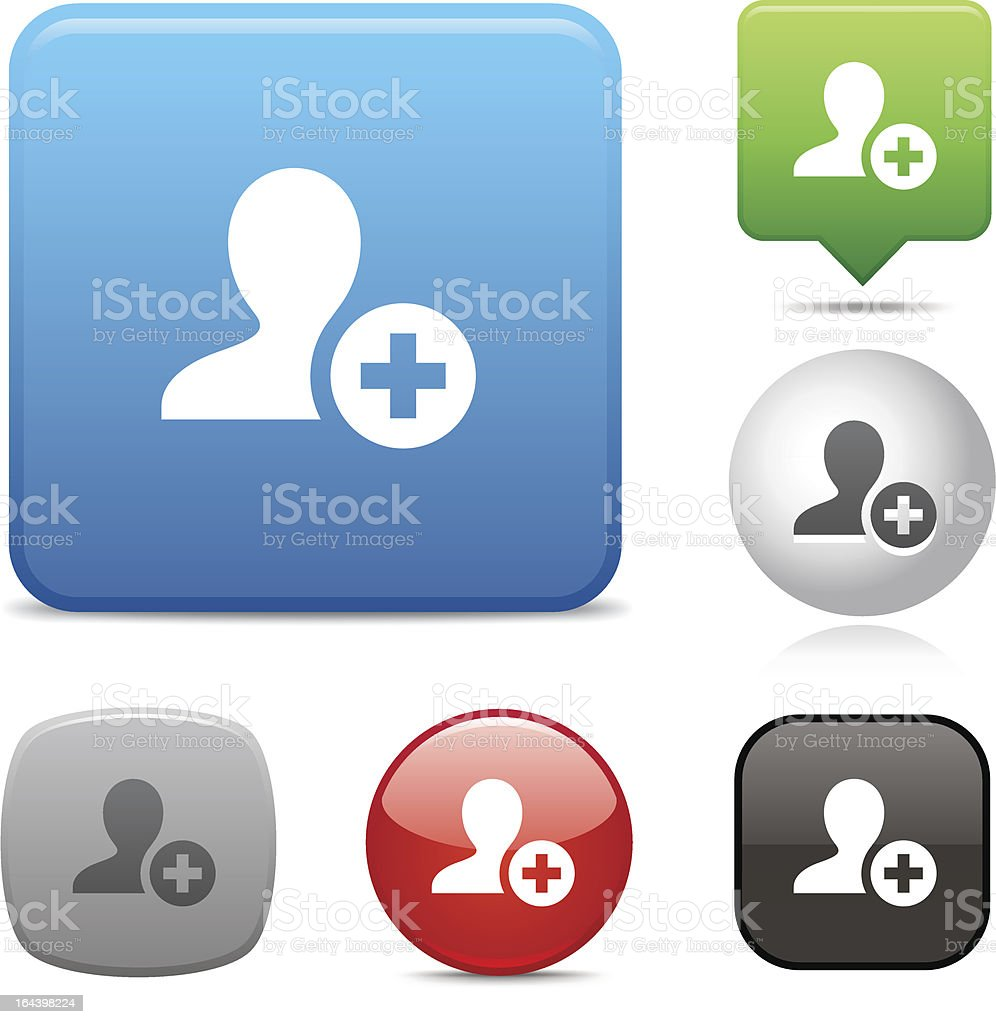 Add Contact icon royalty-free stock vector art