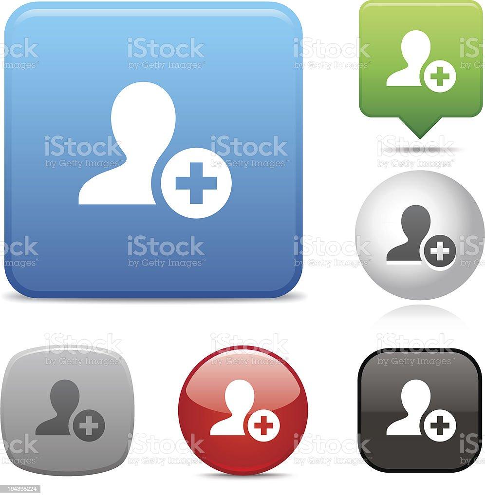 Add Contact icon vector art illustration