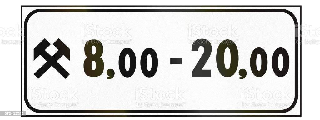 Additional road sign used in Italy - valid at time of day on weedays additional road sign used in italy valid at time of day on weedays – cliparts vectoriels et plus d'images de europe libre de droits