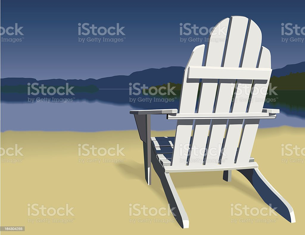 Adirondack Chair Scene vector art illustration