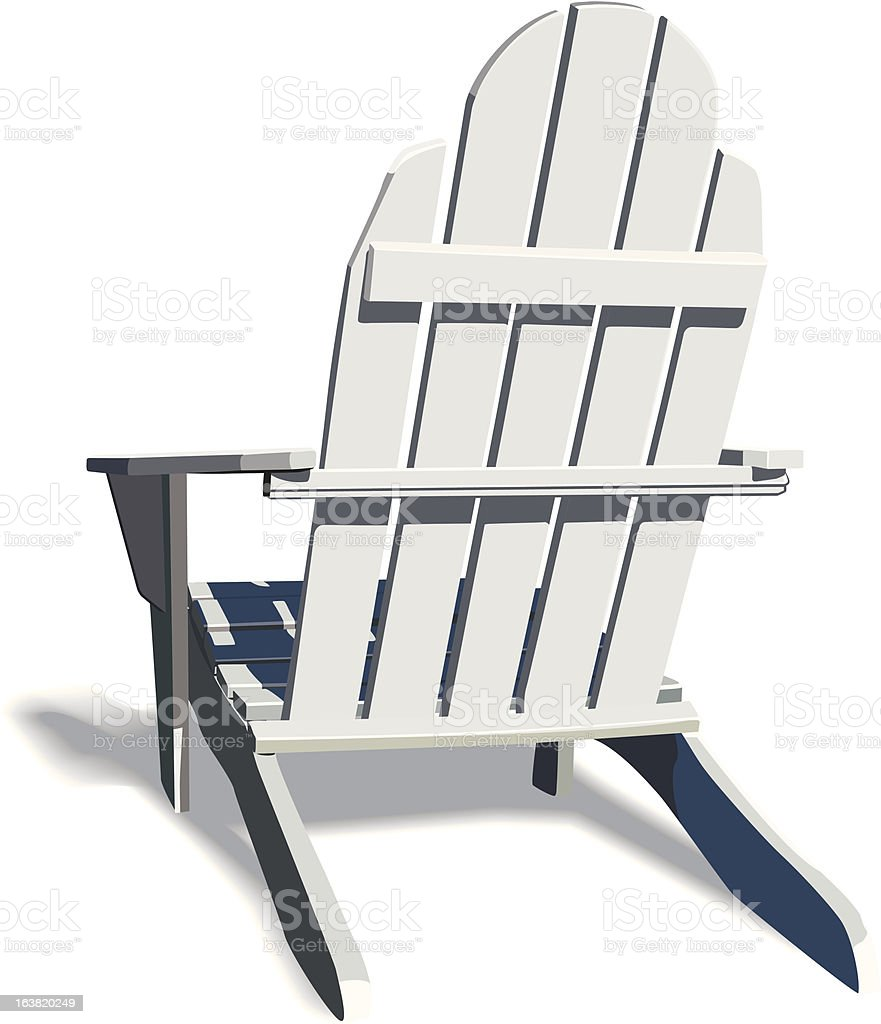 Adirondack Chair with soft shadow vector art illustration