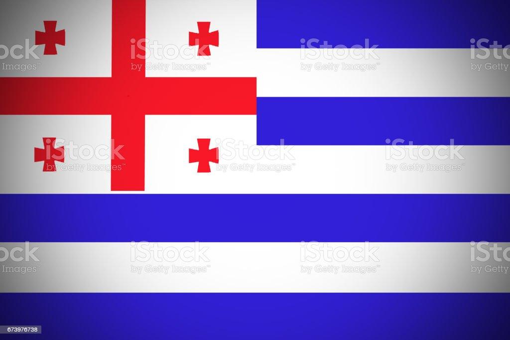 Adjara national flag 3D illustration symbol. royalty-free adjara national flag 3d illustration symbol stock vector art & more images of arabia