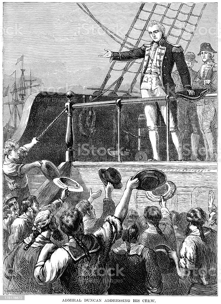Admiral Duncan addressing his crew royalty-free admiral duncan addressing his crew stock vector art & more images of 18th century