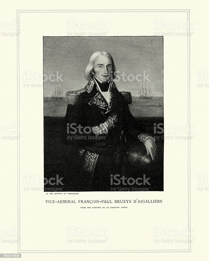 Admiral Francois-Paul Brueys d'Aigalliers vector art illustration