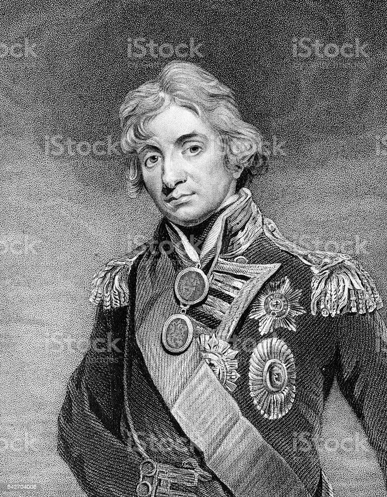 Admiral Horatio Nelson, 1st Viscount Nelson vector art illustration