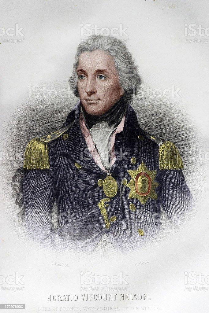 Admiral Horatio Nelson vector art illustration