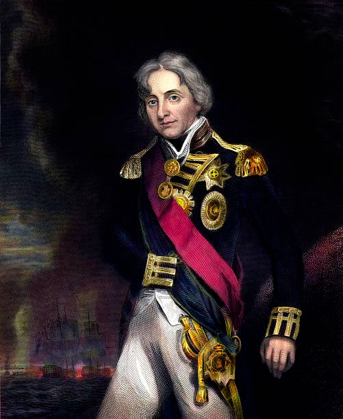 stockillustraties, clipart, cartoons en iconen met admiral horatio nelson - 18e eeuw