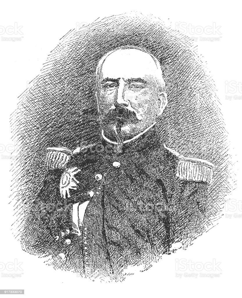Admiral Napier vector art illustration