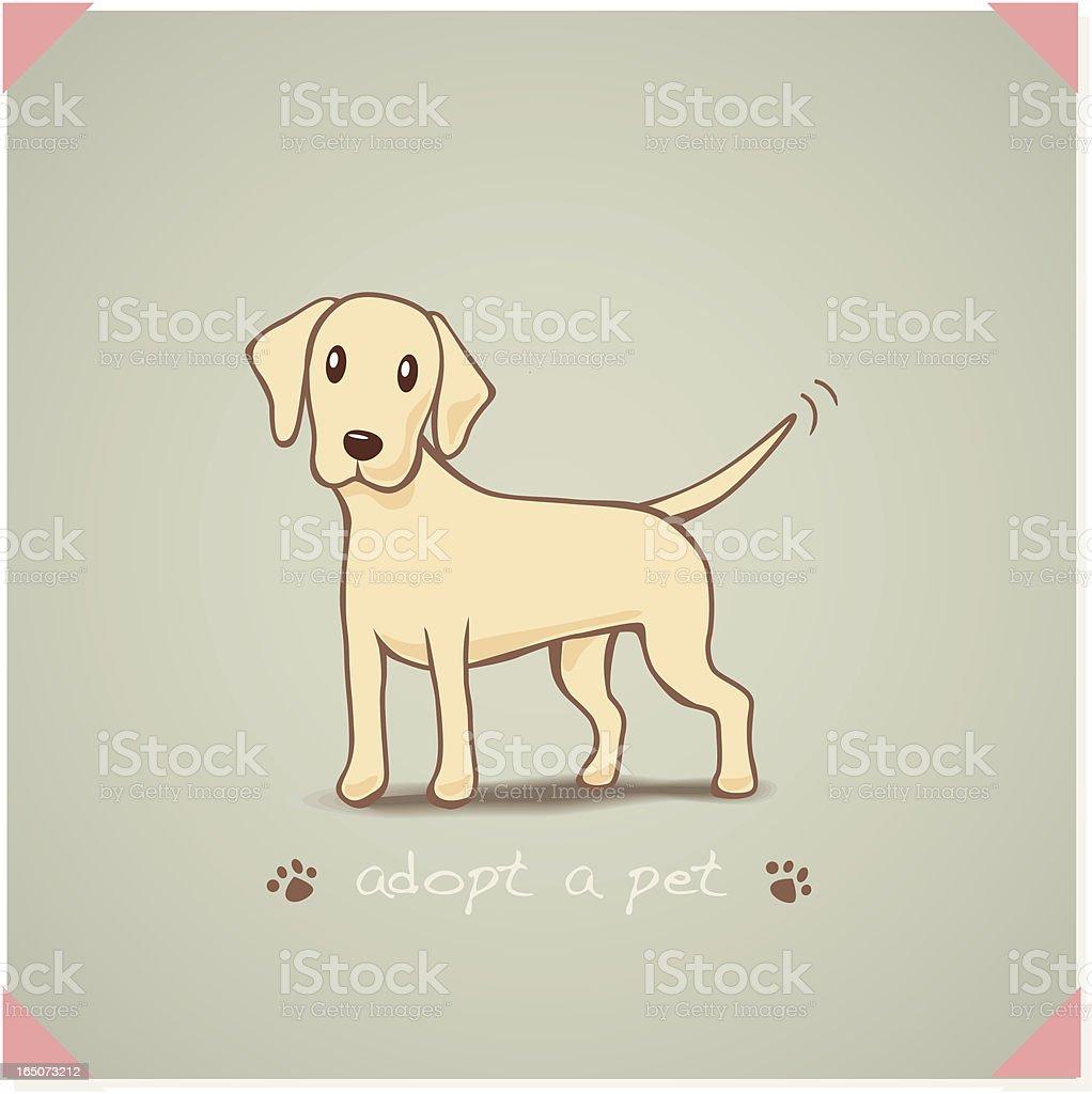 Adopt a Labrador royalty-free stock vector art