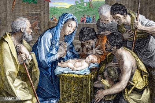 istock Adoration of the Shepherds -  Nativity 155387155