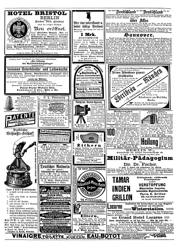 Ads from 1892 in a German magazine