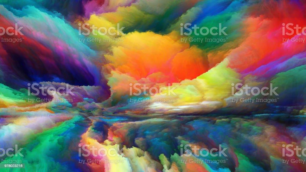 Advance of Abstract Landscape vector art illustration