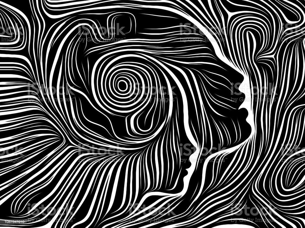 Advance of Inner Lines vector art illustration