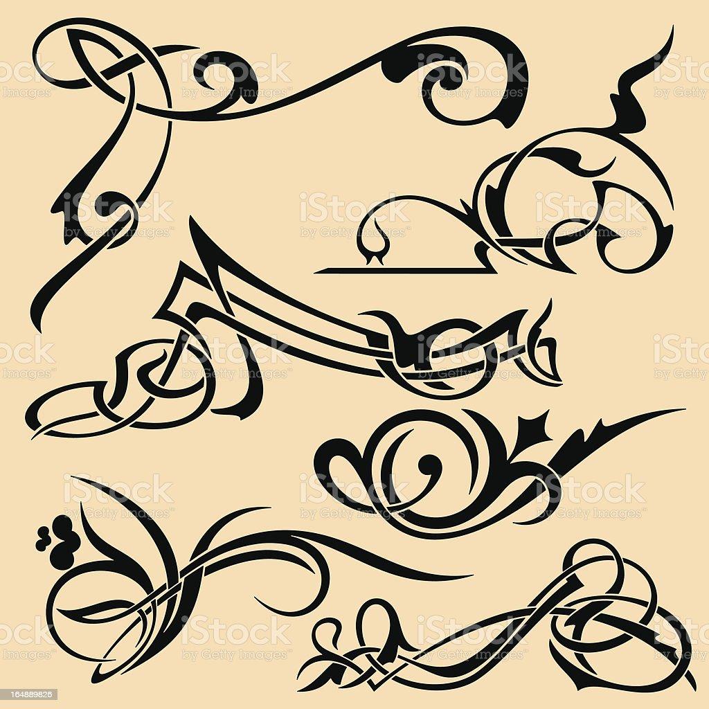 Advanced Ornamental Elements VII  (Vector) royalty-free stock vector art