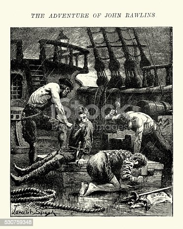 istock Adventure of John Rawlins and the Barbary pirates 1621 530759348