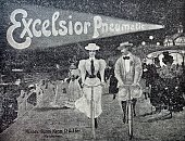 Advertising poster for bicycle tires