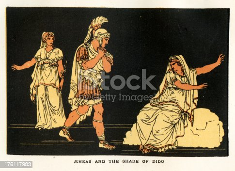 Aeneas and the Shade of Dido a scene from Virgil's Aeneid.