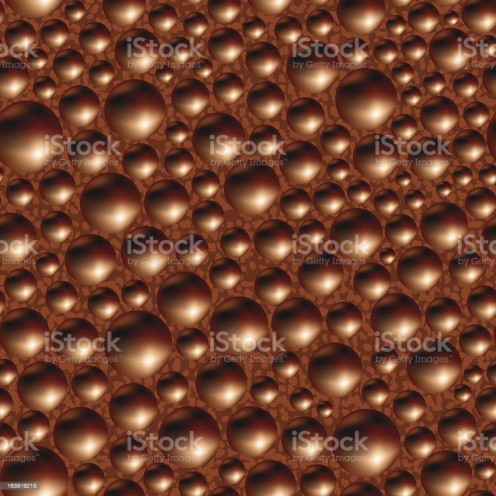 Aerated porous black chocolate. royalty-free stock vector art