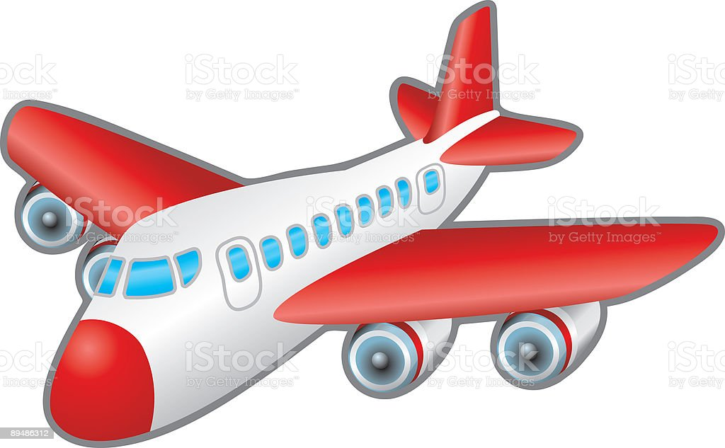 Aeroplane vector art illustration