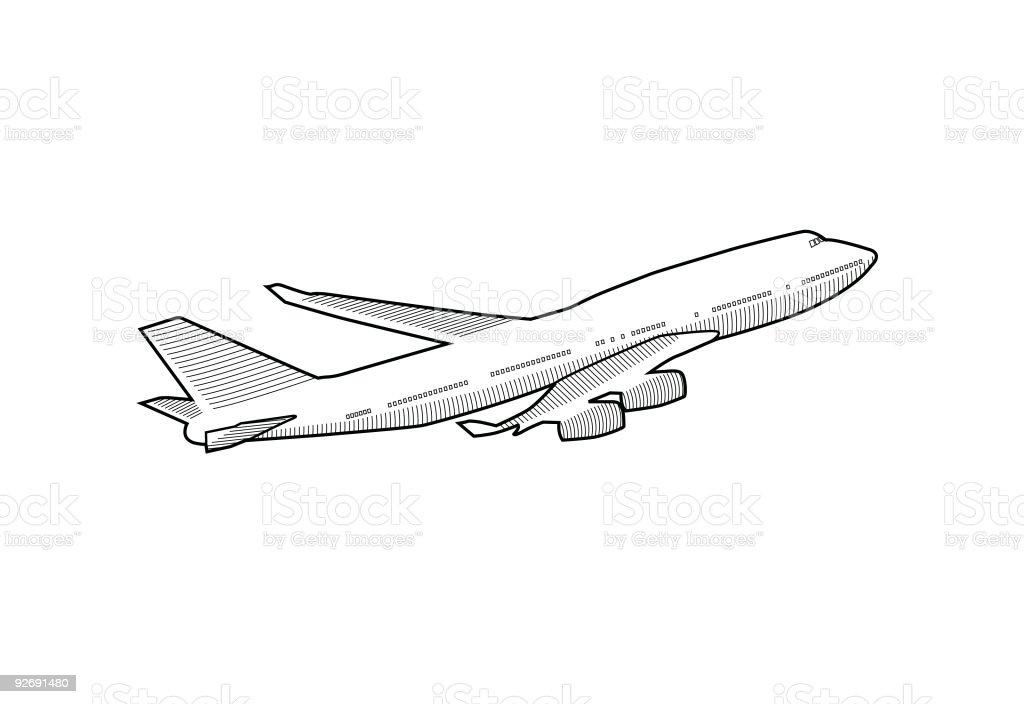 Aeroplane royalty-free stock vector art