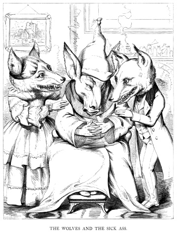 Aesop's Fables - Wolves and the Sick Ass