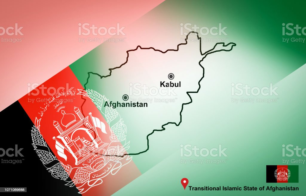 Afghanistan Map And Kabul With Location Map Pin And ...