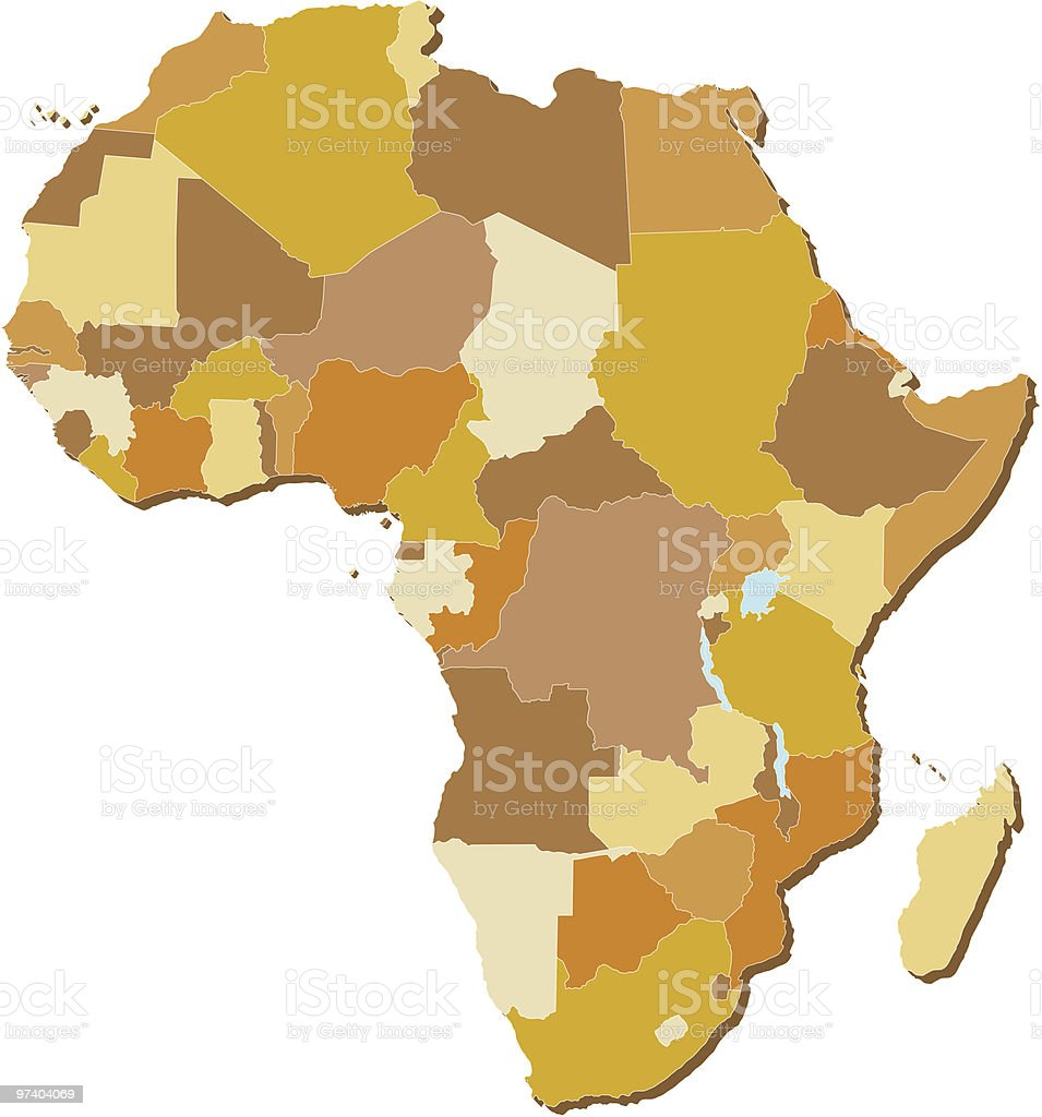 Africa map royalty-free africa map stock vector art & more images of africa