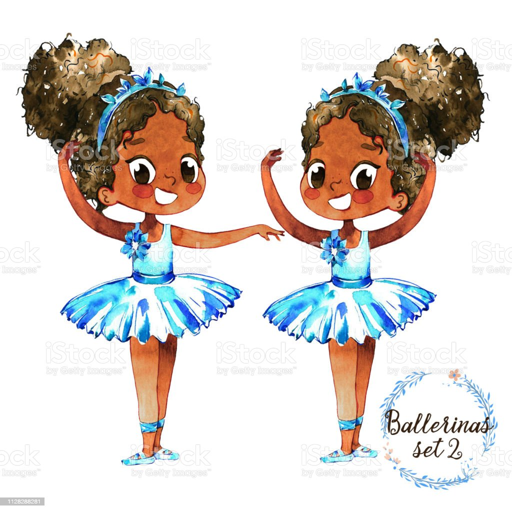 69e91afce African American Ballerina Baby Character Training Set Cute Little ...