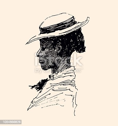 Portrait of African-American woman by E.W. Kemble, 1897 (Story of the uncle's hut)