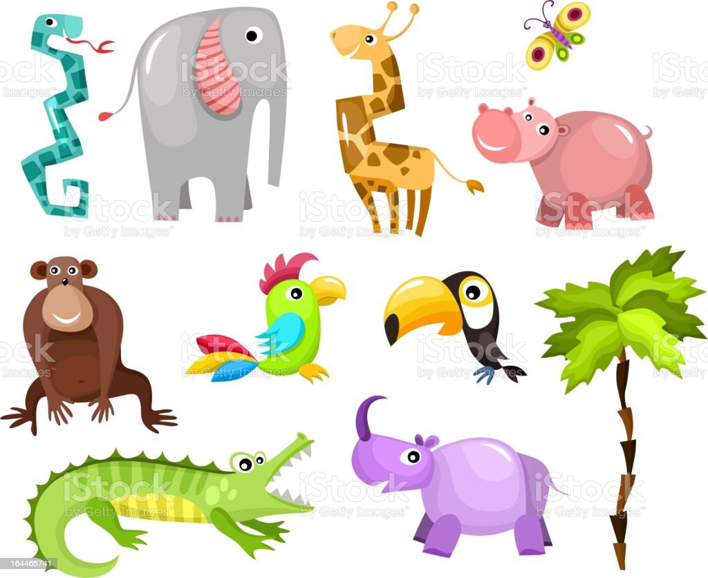 african animals royalty-free african animals stock vector art & more images of africa