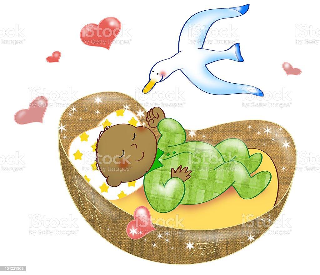 African baby vector art illustration