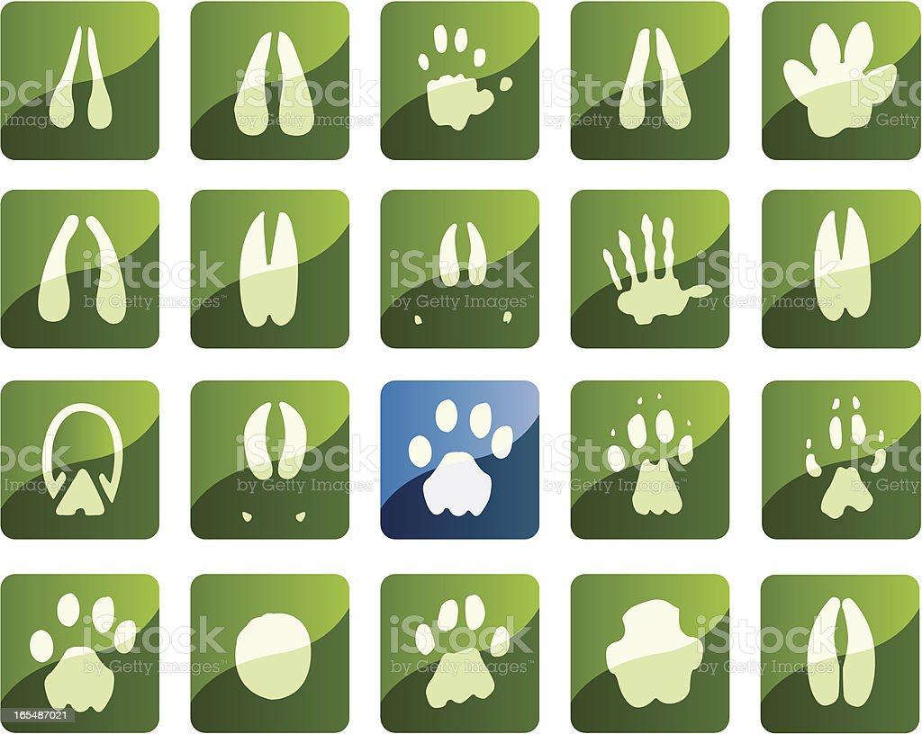 African Foot print icons vector art illustration