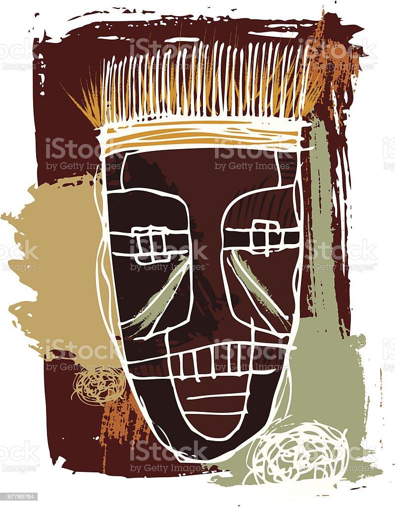 african mask vector art illustration