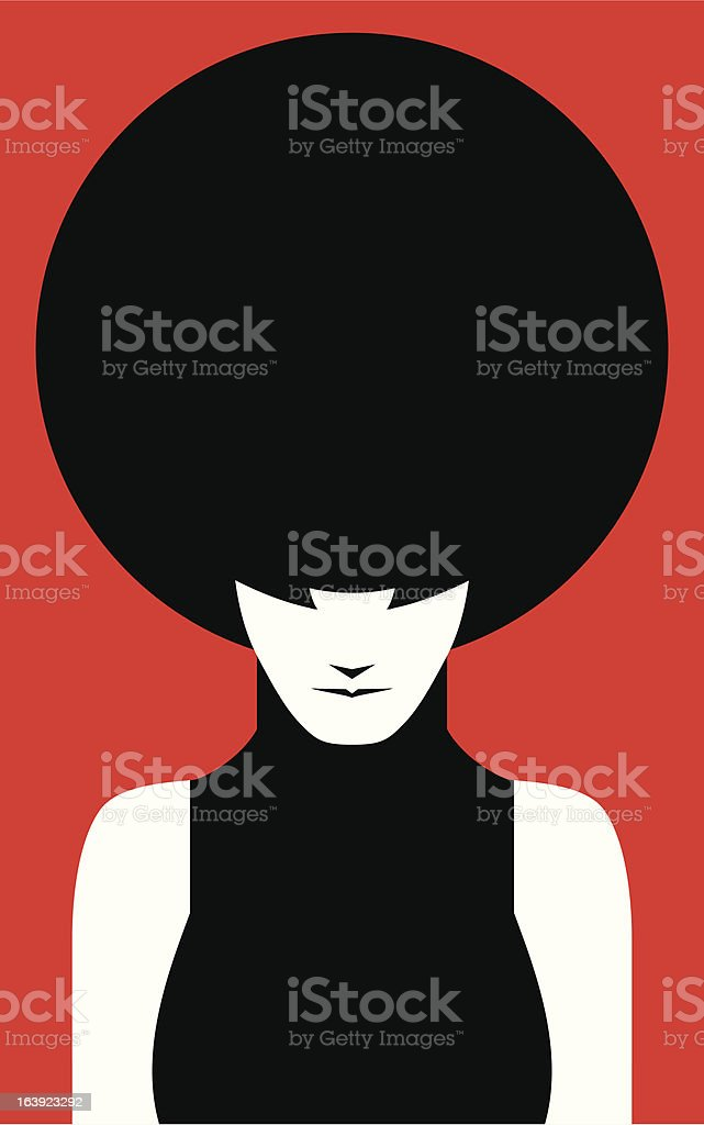 Afro Lady vector art illustration