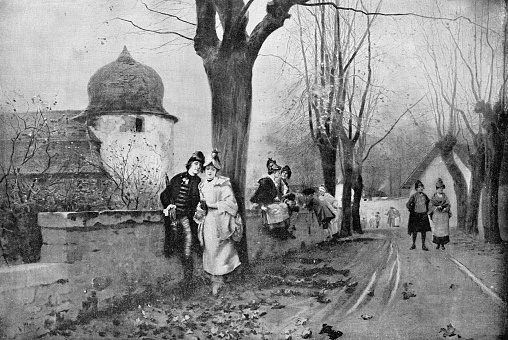 After the Vespers by Charles Édouard Delort - 19th Century