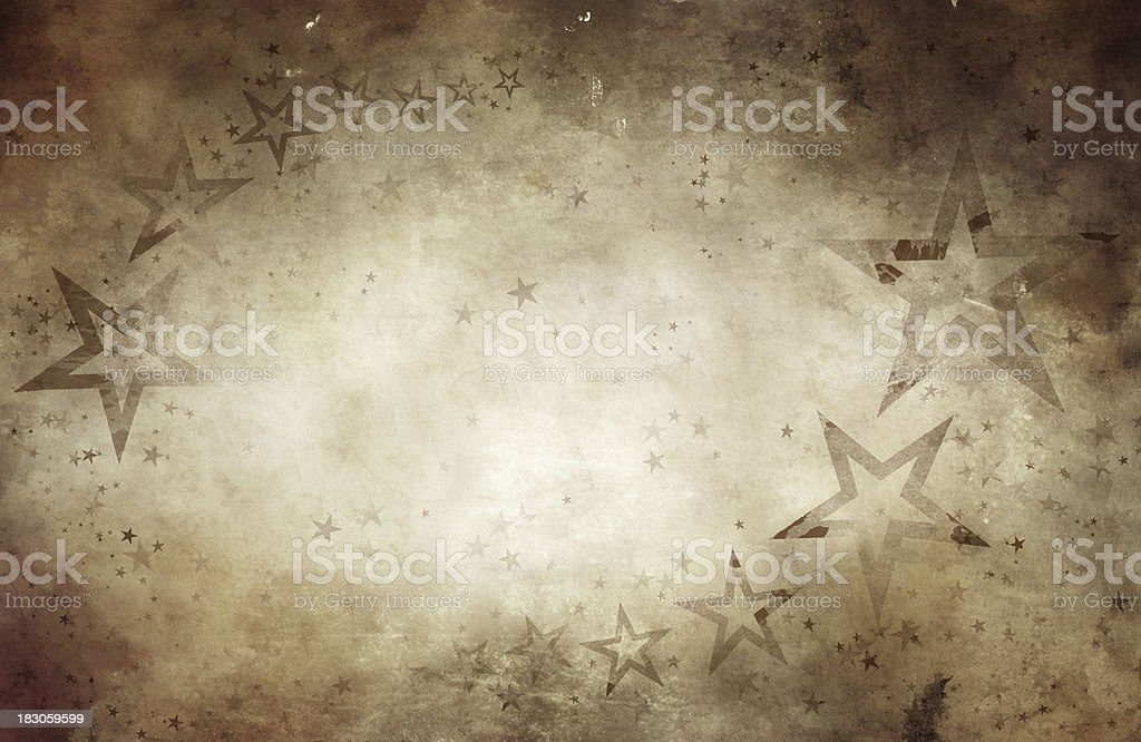 Aged crumpled paper with stars royalty-free aged crumpled paper with stars stock vector art & more images of backgrounds