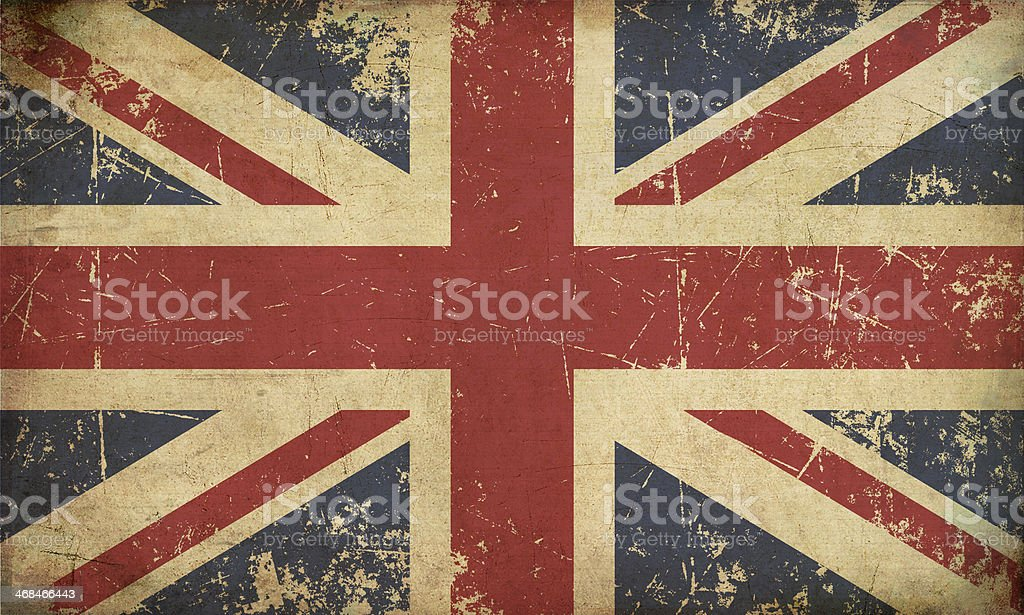 UK Aged Flat Flag vector art illustration