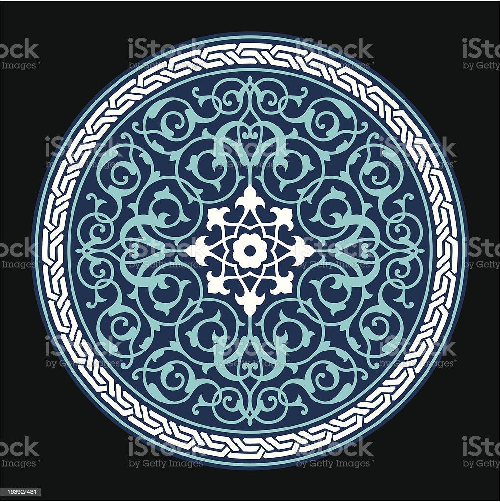 Ahar Circle Floral Ornament royalty-free stock vector art