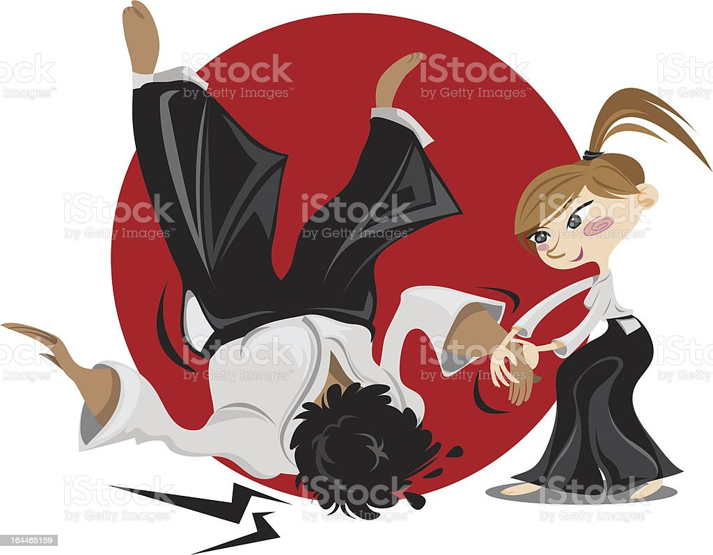 Aikido Girl royalty-free stock vector art