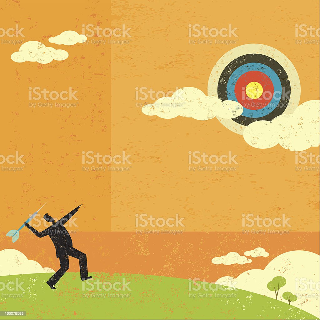 Aiming for a high target royalty-free aiming for a high target stock vector art & more images of achievement