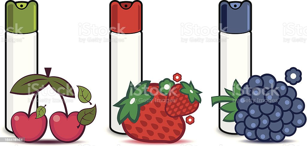 air fresheners with berries vector art illustration