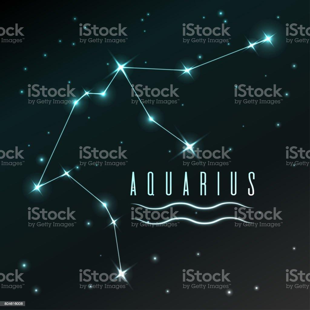 ilustración de símbolo de aire de acuario signo del zodiaco