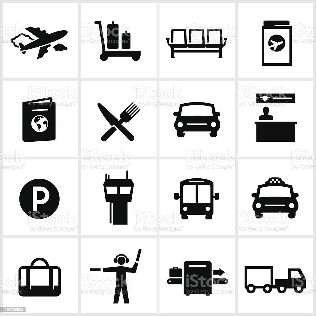 Air Travel Icons vector art illustration