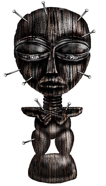 airbrush art - a Voodoo Statue  voodoo stock illustrations