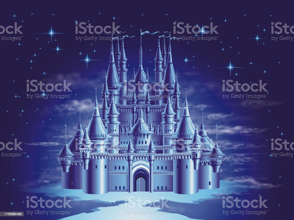 airbrush art - Fairy Tale Castle royalty-free stock vector art